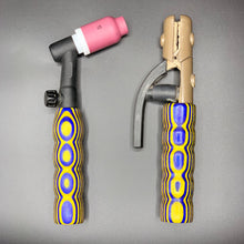 Blue and Yellow Wood Handle