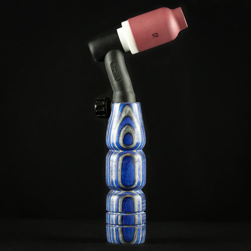 150 amp TIG Torch Wood Handle - Blue & Grey