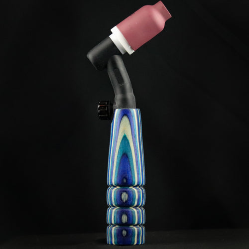 150 amp TIG Torch Wood Handle - Blue and White