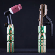 Green, Brown & White Wood Handle