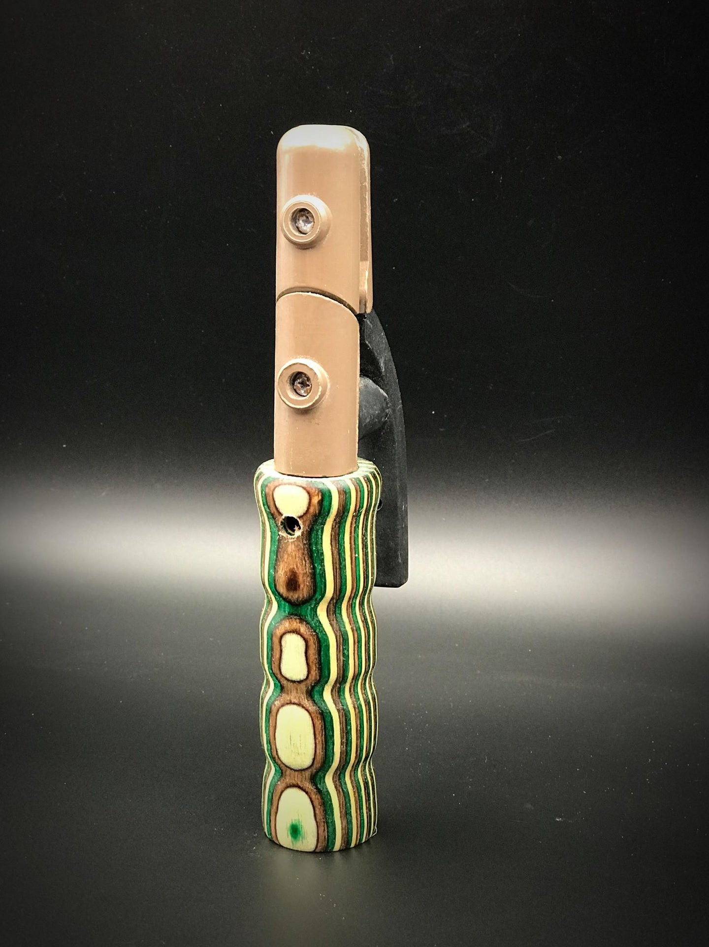 Stinger/Stick Brown, White & Green Wood Handle