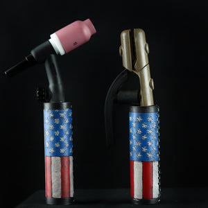 USA Flag Weaved Leather Handle