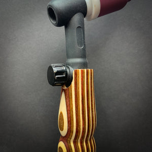 Red, Brown & Cream Wood Handle