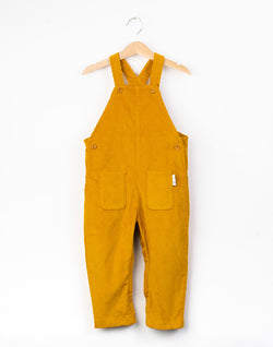 Mustard Patch Pocket Organic Cotton Corduroy Dungarees