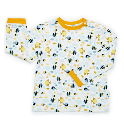 JuJuni ethical childrens t-shirt fish ocean print colourful organic cotton