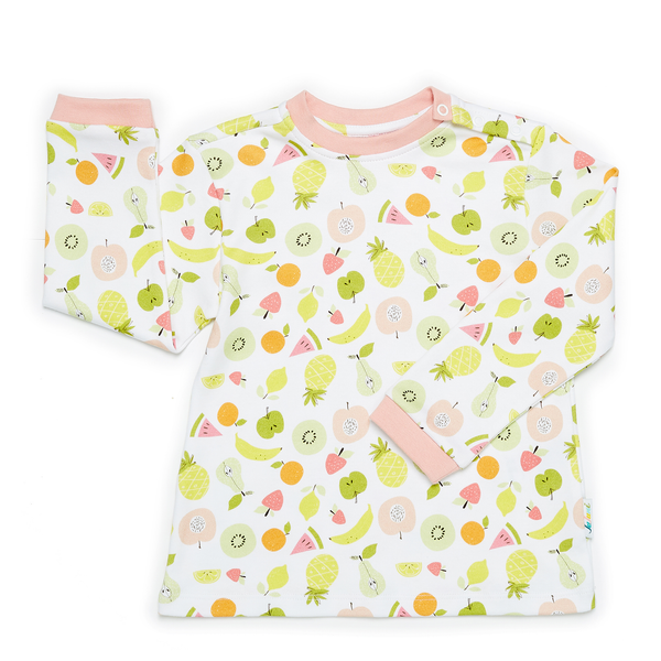Jujuni all over print fruit organic cotton t shirt kids ethical