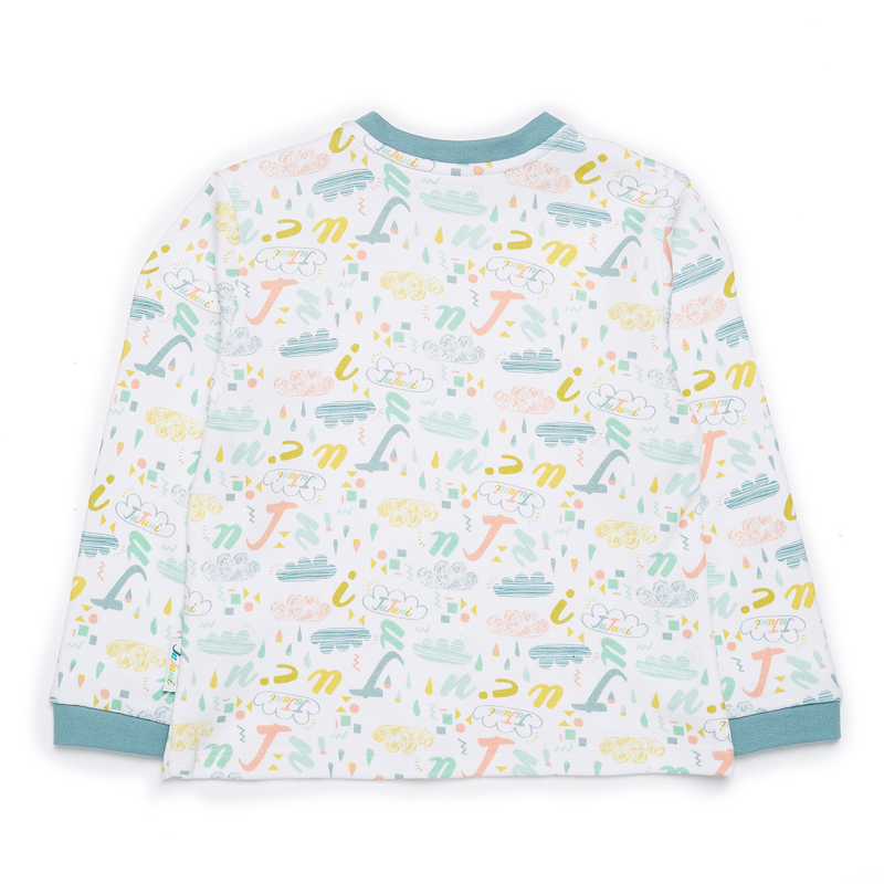 JuJuni ethical childrens tee print colourful organic cotton