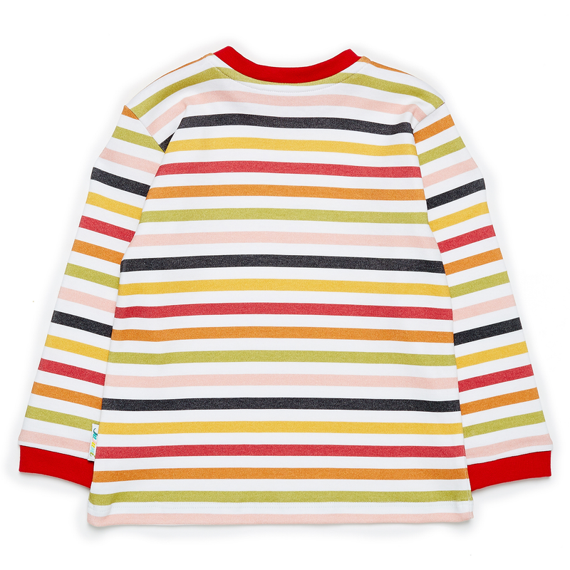 JuJuni ethical childrens stripe striped tee print colourful organic cotton kids