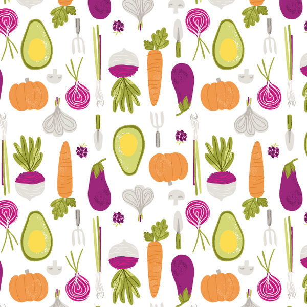 Vegetable Print T-shirt
