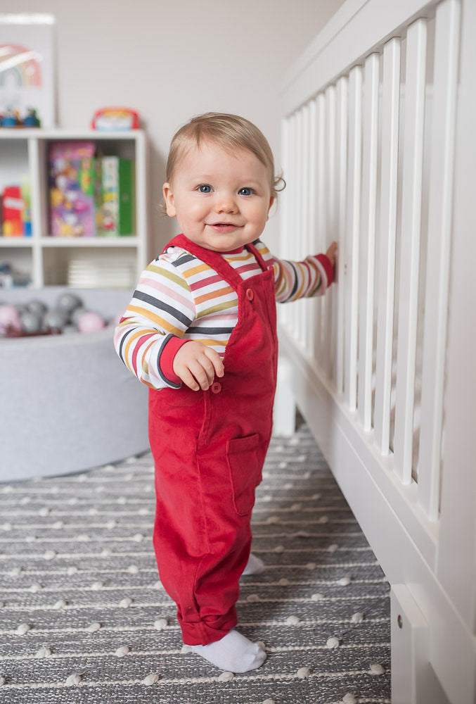 Red Patch Pocket Dungarees