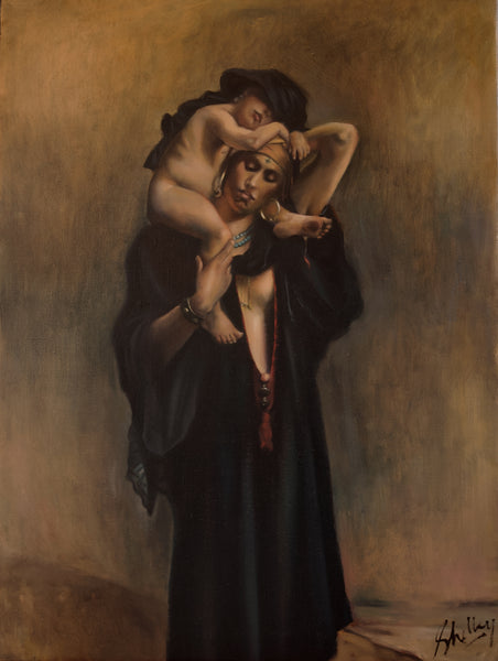 Egyptian Peasant Woman and her Child, after Leon Bonnat
