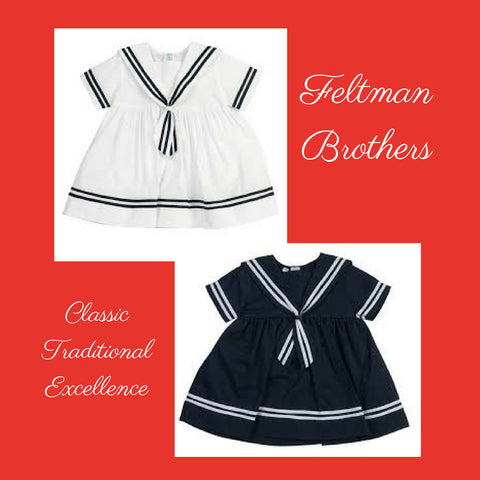 Feltman Brothers sailor dress navy white