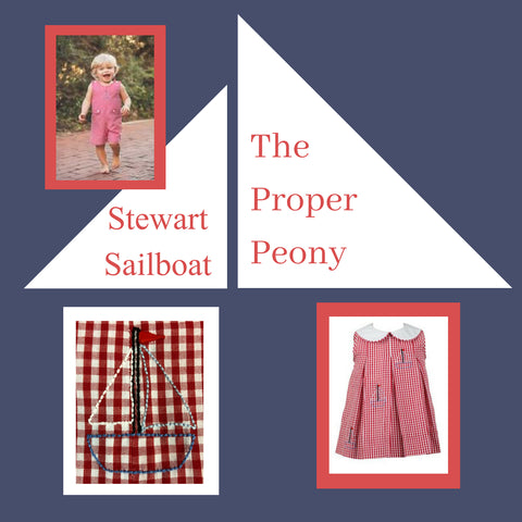 The Proper Peony Stewart Sailboat collection red white and blue