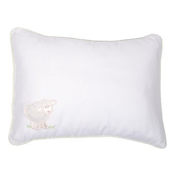 White Lamb Baby Pillow