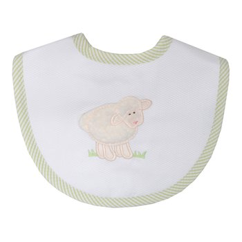 White Lamb Medium Bib