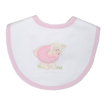 3 Marthas|Pink Lamb Medium Bib