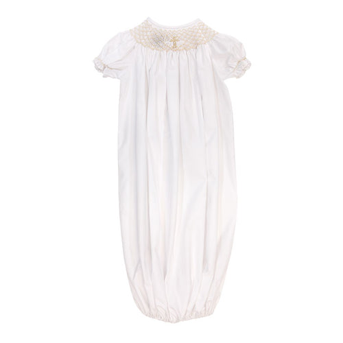 The Bailey Boys | White with Ivory Christening Infant Gown/Sac