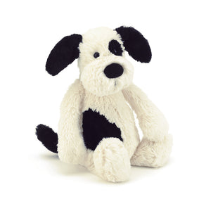 Jellycat|Bashful Black and Cream Puppy-Small