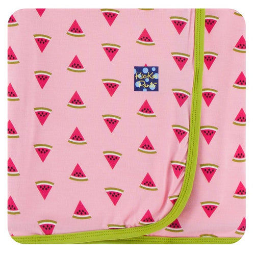 Print Swaddling Blanket in Lotus Watermelon
