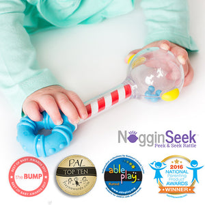 "Smart Noggin | ""Noggin Seek"" Peek and Seek Rattle"