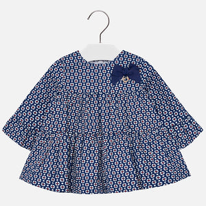 Mayoral|Patterned Dress with Bow