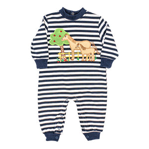 The Bailey Boys Knit Horse Romper