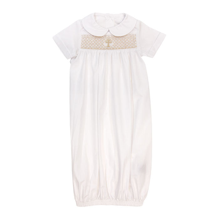 The Bailey Boys|White with Ivory Christening Gown/Sac