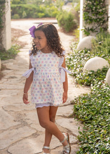 James & Lottie Ruthie Bloomer/Banded Short Set, Starfish
