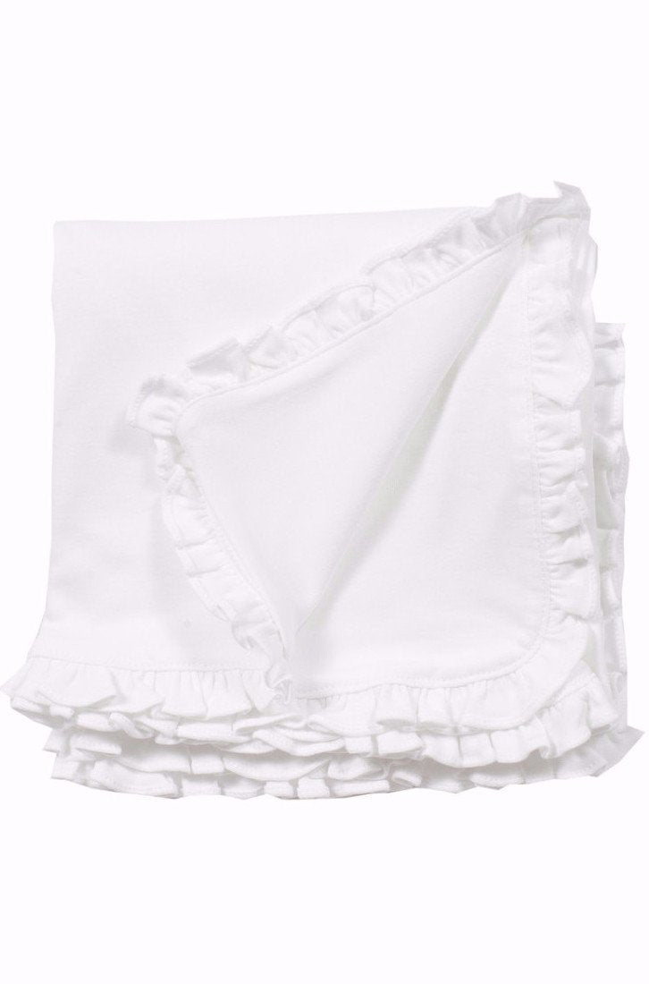 <span>100% pima cotton blanket with plain edge. Ideal monogrammed, makes a great keepsake gift! Measures 34