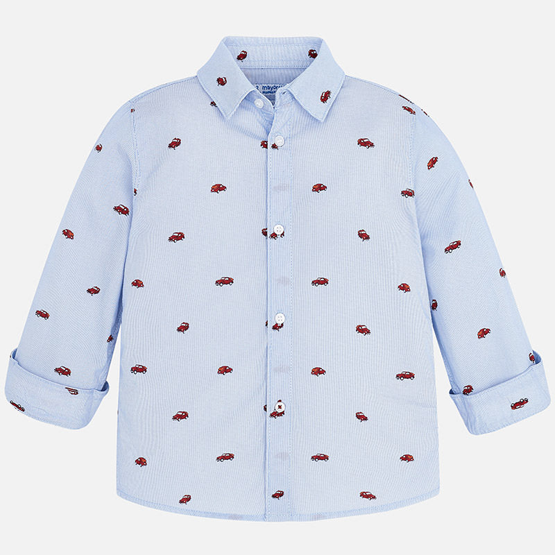 Mayoral|Patterned Long Sleeved Shirt
