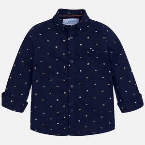 Mayoral|Patterned Long Sleeve Shirt-Orion