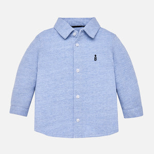 Mayoral|Long Sleeved Button Down Shirt