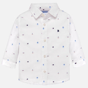 Mayoral Long Sleeved Patterned Shirt