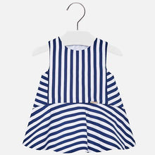 Mayoral | Blue Stripe Drop Waist Dress
