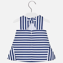 Mayoral Blue Stripe Drop Waist Dress