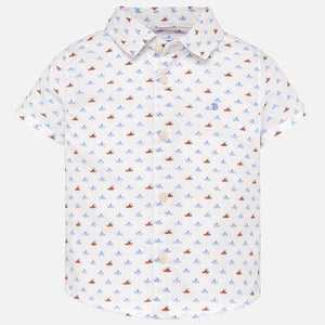 Mayoral | Short Sleeved Patterned Button Down (Ships)