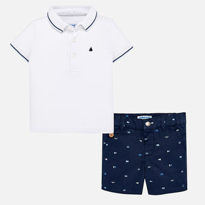 Mayoral Polo and Short Set