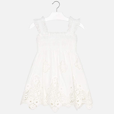 Mayoral White Lace Dress