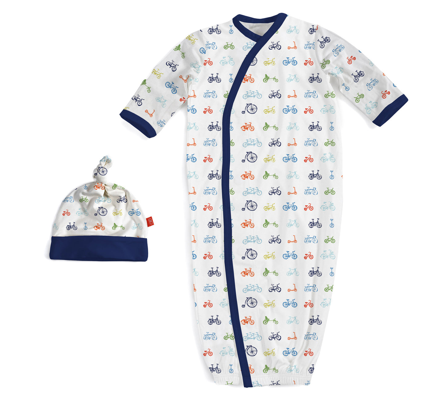 Magnificent Baby | Bikes Magnetic Gown and Hat Set