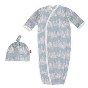 Blue Aspen Modal Magnetic Sack Gown Set