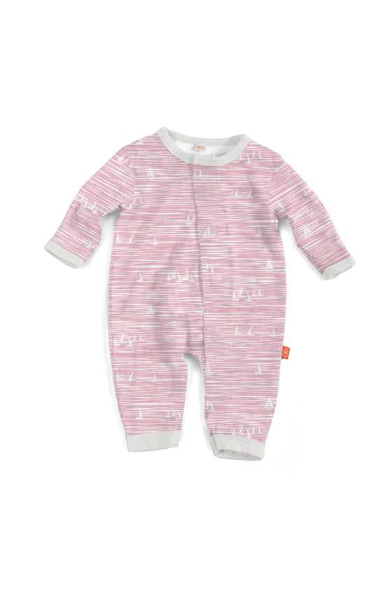 <div>This darling pink magnetic coverall is perfect for any baby girl.</div> <ul> <li>Absolute easiest way to dress a baby!</li> <li>Fun and flexible for rolling, crawling, and adventure</li> <li>Mitten cuffs on NB &amp; 3M sizes</li> <li>Silky soft, eco-friendly Modal fabric</li> <li>Machine wash</li> </ul>