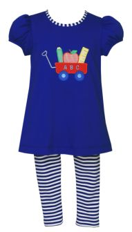 Claire & Charlie Back To School Tunic Set