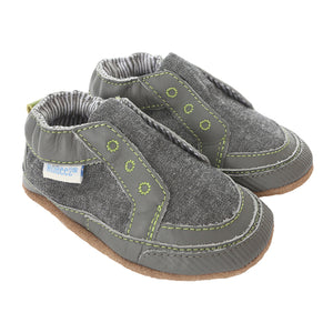 Stylish Steve Baby Shoes, Stone, Soft Soles