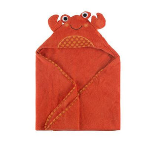 Zoocchini|BABY SNOW TERRY HOODED BATH TOWEL - CHARLIE THE CRAB
