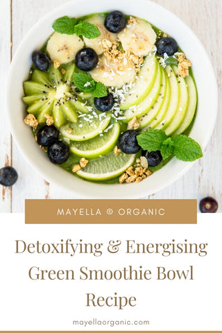 Pinterest image for green smoothie bowl recipe