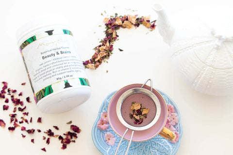 Herbal Tea Mayella Organic Beauty and Brains - Mayella Blog post For the Love of Tea