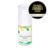 bottle of mayella AHA exfoliating serum in a 15ml glass pump bottle with a white background with a black circle in the top right hand corner that reads beauty shortlist awards 2020 editor's choice
