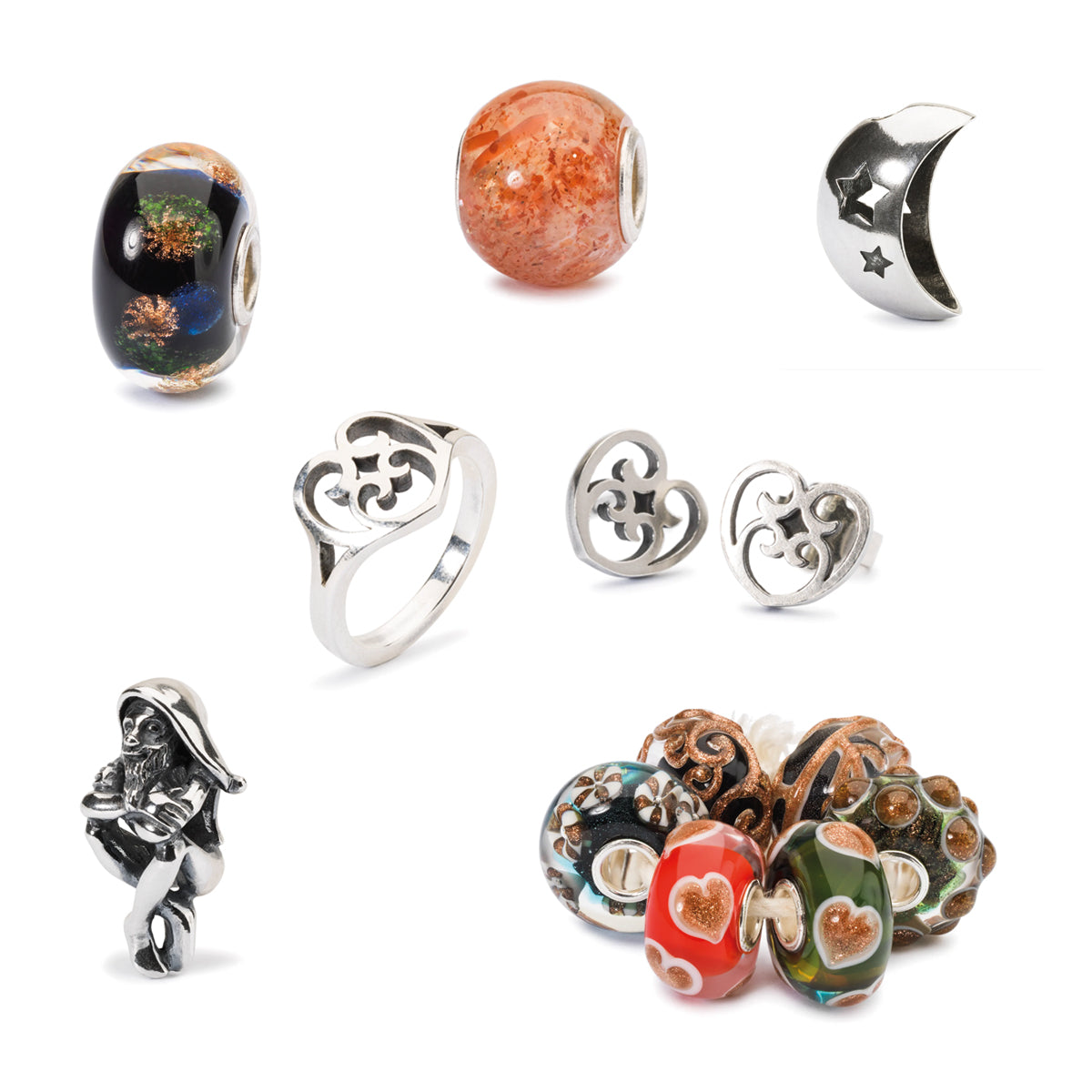 Trollbeads Weihnachten und Winterkollektion 2019 | Christmas and Winter Collection 2019 Sonne, Mond und Sterne | My Sun, My Moon, My Stars