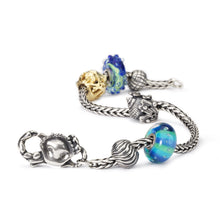 Trollbeads Armband Silber mit Glasbeads und Silber Gold Bead | Bracelet with Glass Beads and Silver and Gold Bead Charm