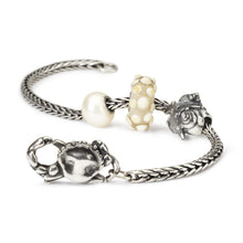 Trollbeads Armband Silber mit Glasbeads Perle Silberbead und Krabbenverschluss Blue Ocean Kollektion Sommer 2018 | Bracelet Silver with Glass and Silver Beads Pearl and Crab Lock from the Blue Ocean Summer Collection 2018